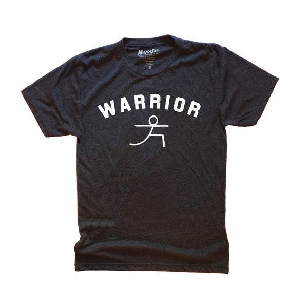 WARRIOR  MENS BLACK TRIBLEND CREW T-SHIRT