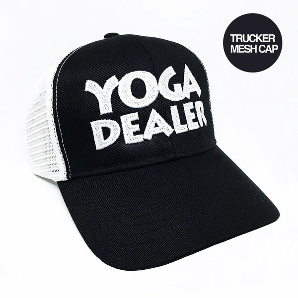 YOGA DEALER BLACK ECO UNISEX TRUCKER MESH CAP