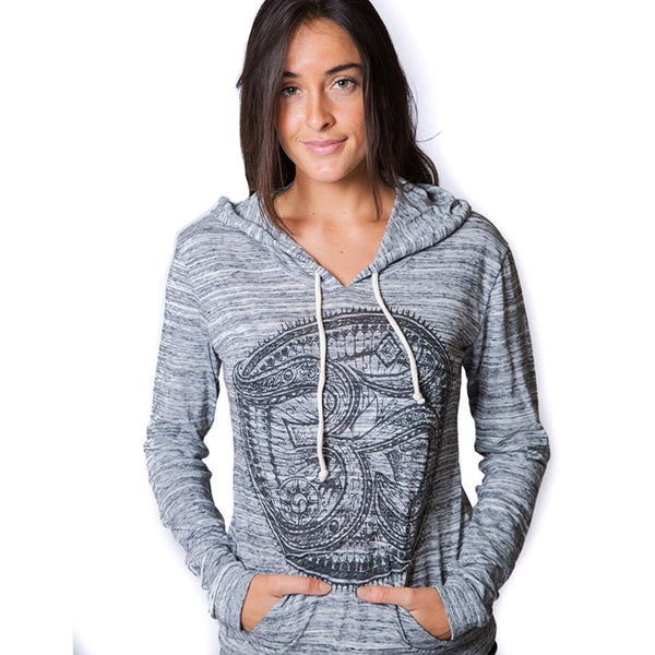 TRIBAL AUM ~ RECYCLED PULLOVER HOODIE