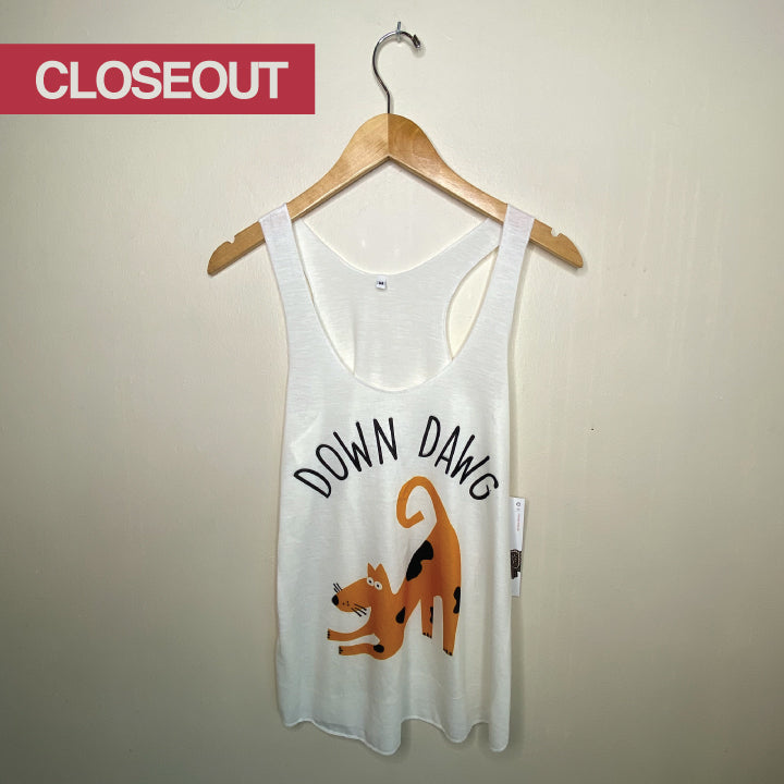 DOWN DAWG ~ NATURAL RACER TANK CLOSEOUT