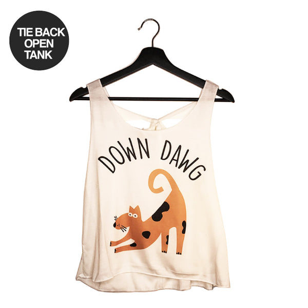 DOWN DAWG ~ NATURAL TIE BACK OPEN TOP