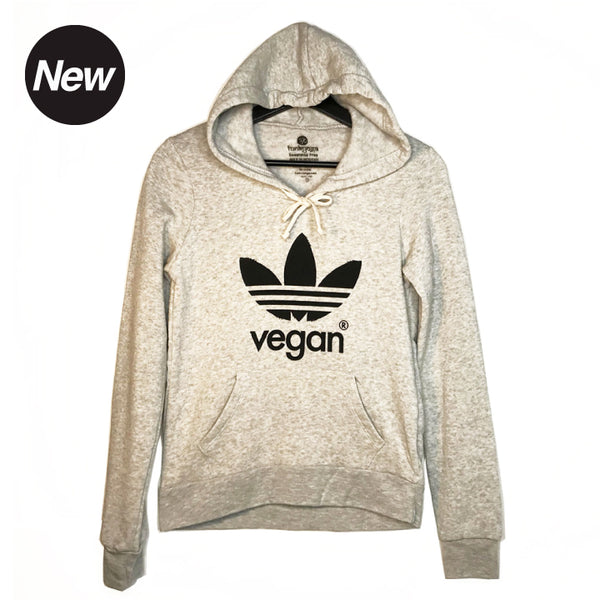 VEGAN ~ HEATHER ASH  FLEECE TRIBLEND HOODIE