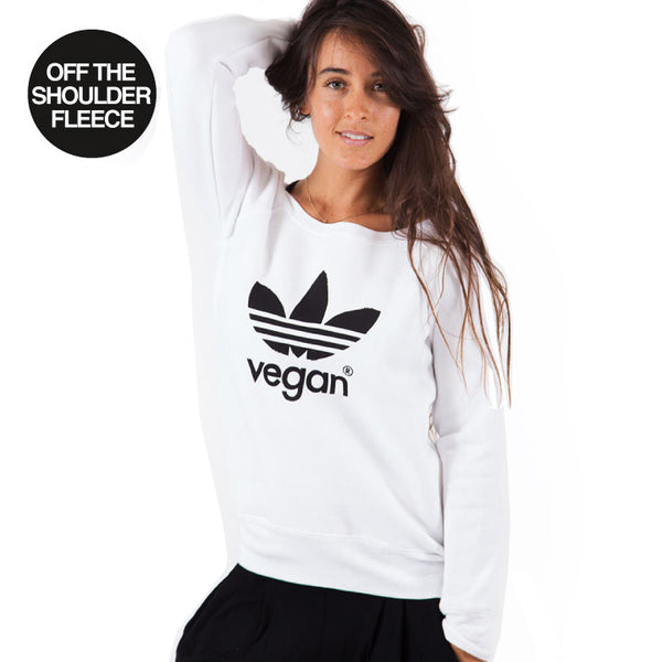 VEGAN ~ OFF THE SHOULDER TRI BLEND FLEECE