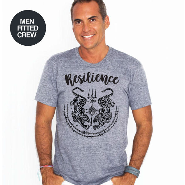 RESILIENCE ~ HEATHER GREY MENS TRIBLEND CREW T-SHIRT