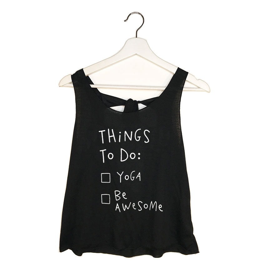 BE AWESOME ~ BLACK TIE BACK OPEN TOP