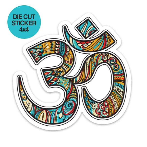 OM RETRO ~  4 X 4 DIE CUT VINYL STICKER