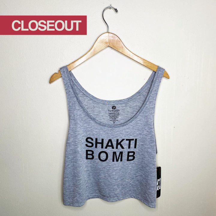 SHAKTI BOMB ~ HEATHER GREY RETRO BOXY TANK