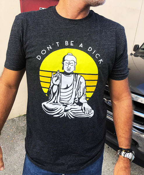 DON'T BE A DICK ~ HEATHER BLACK MENS TRIBLEND VINTAGE CREW