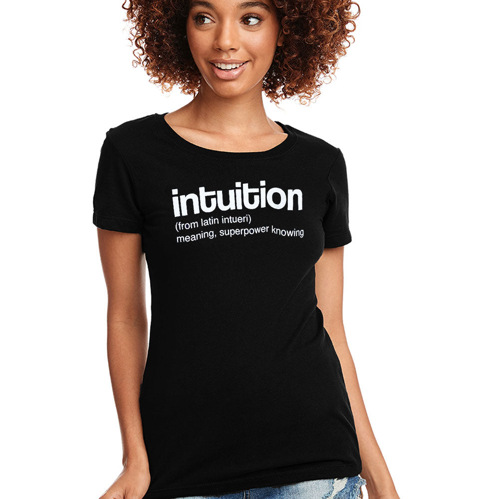 INTUITION ~ OPEN NECK BLACK COTTON SHEER TEE