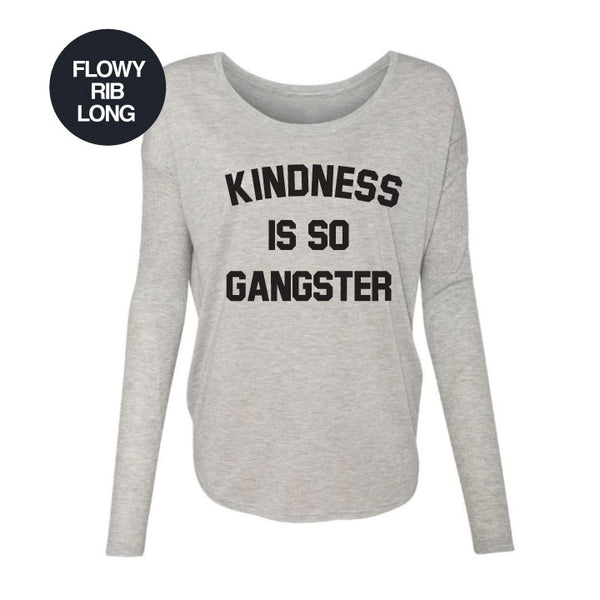SO GANSTERS ~ HEATHER GREY FLOWY RIB LONG