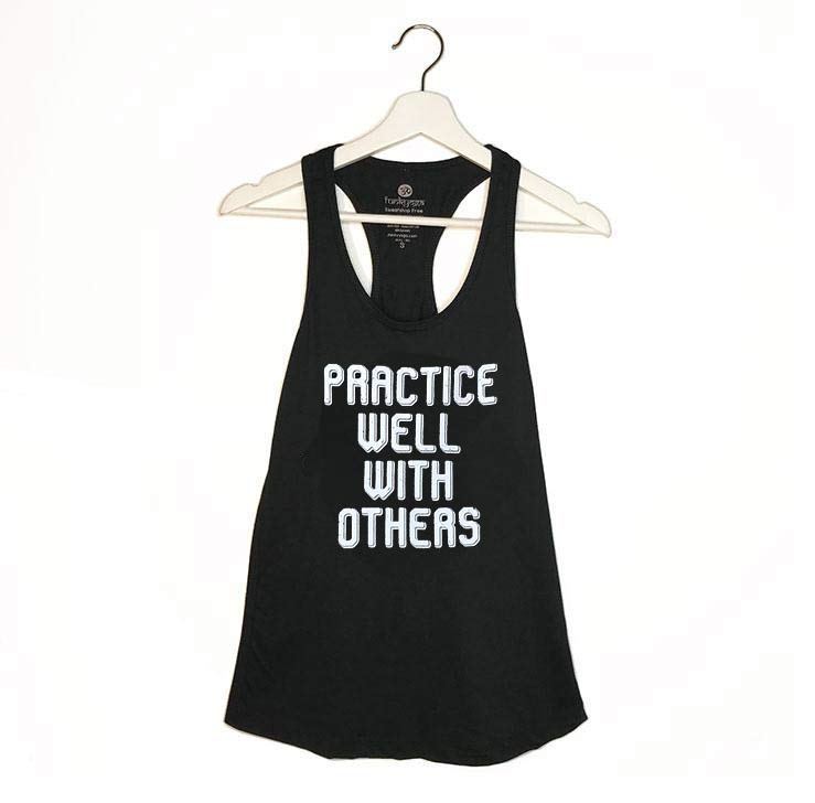 WITH OTHERS ~ BLACK COTTON RACER TANK