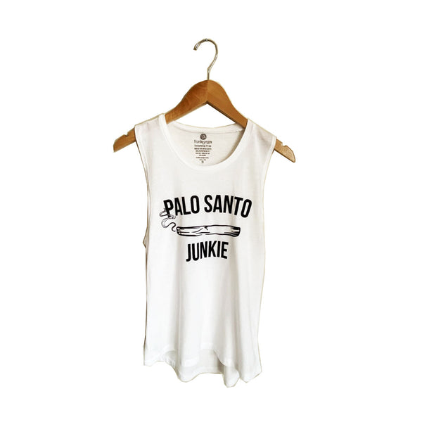PALO SANTO JUNKIE  - WHITE COTTON MUSCLE TANK