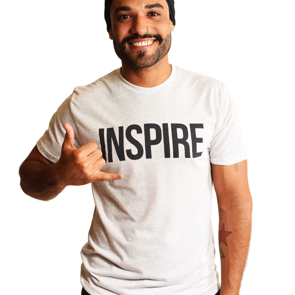 INSPIRE MENS TRIBLEND CREW T-SHIRT - Funky Yoga  Gear & Accessories
