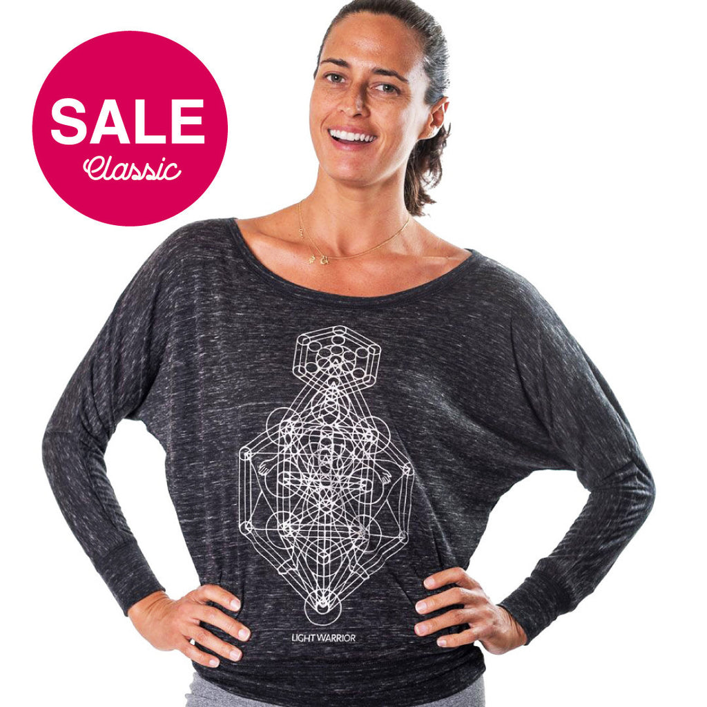 LIGHT WARRIOR MARBLE FLOWY LONG SLEEVES - Funky Yoga  Gear & Accessories