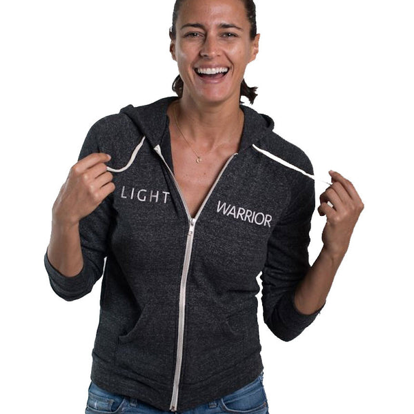 LIGHT WARRIOR TRIBLEND FLEECE ZIP HOODIE