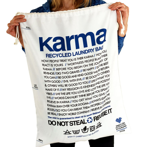 KARMA RECYCLED LAUNDRY BAG - Funky Yoga  Gear & Accessories