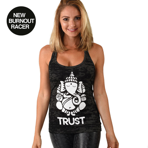 GANESH TRUST BURNOUT RACER TANK - Funky Yoga  Gear & Accessories