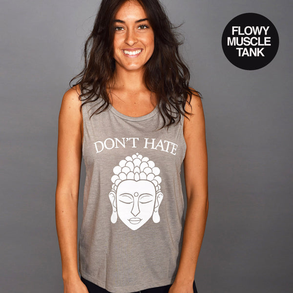 NO HATE ~ HEATHER STONE MUSCLE TANK