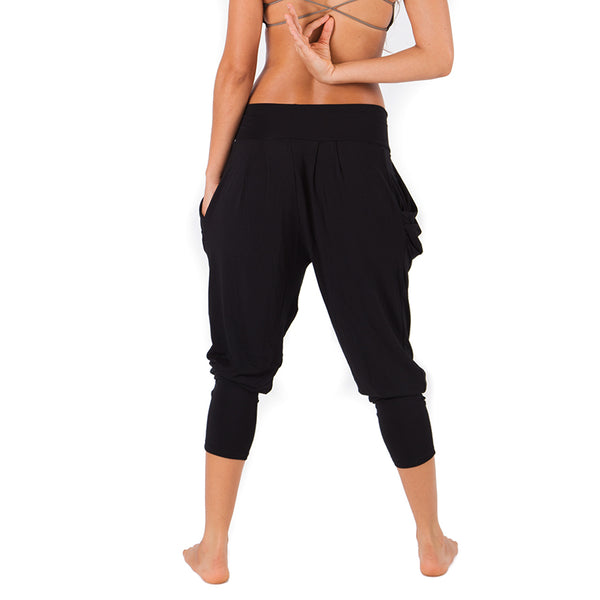 BLACK ~ HAREM VISCOSE JOGGER PANT WITH POCKETS