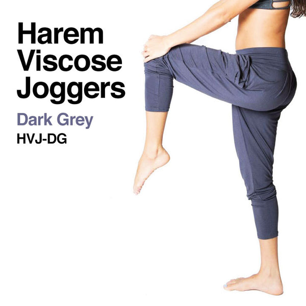 DARK GREY ~ HAREM VISCOSE JOGGER PANT WITH POCKETS