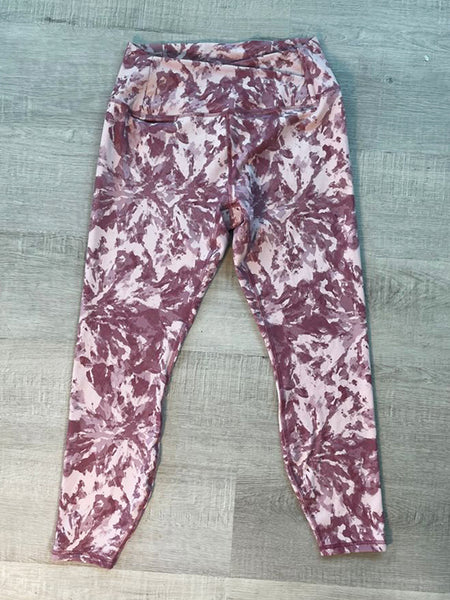 RED FLOWERS ~ HARMONY YOGA PANTS