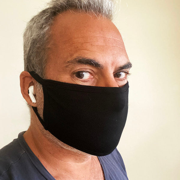 UNISEX BLACK ~ COTTON PROTECTIVE MASK 2-PACK  ~ SHIPS IMMEDIATELY