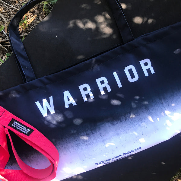 WARRIOR OMBRE ~ WATERPROOF RECYCLED YOGA TOTE BAG 32X10