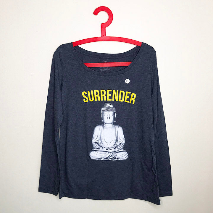 SURRENDER~ HEATHER NAVY SCOOP TRIBLEND LONG