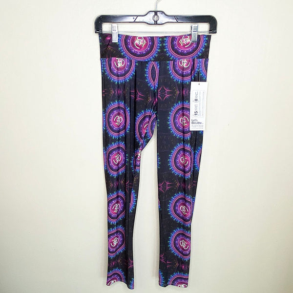 PURPLE MANDALAS ~ LOW WAIST YOGA PANTS