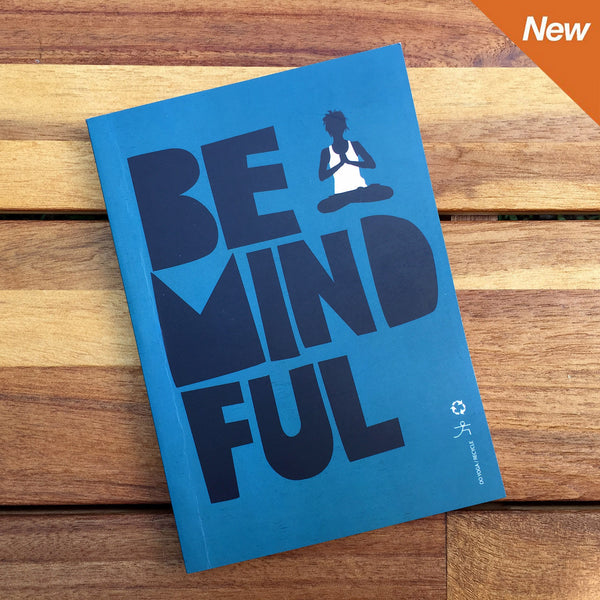 BE MINDFUL 100% POST CONSUMER RECYCLED NOTEBOOK FY308-RNT-BL