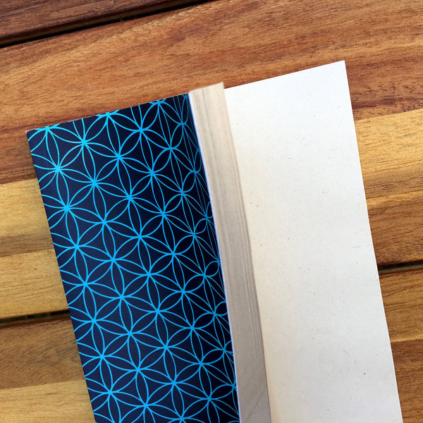 FLOWER OF LIFE 100% POST CONSUMER RECYCLED NOTEBOOK (BLANK) - Funky Yoga  Gear & Accessories