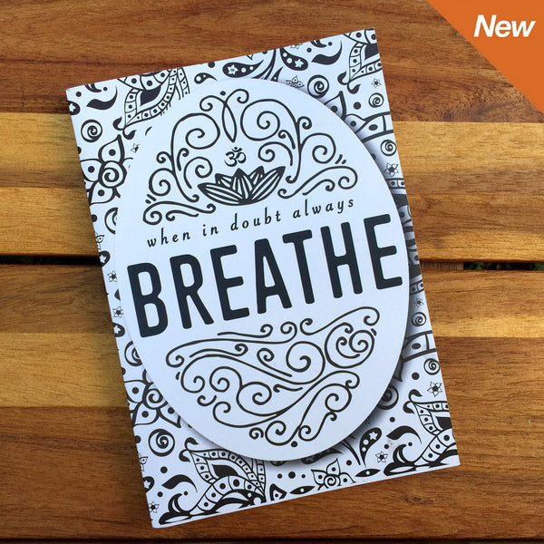 WHEN IN DOUBT BREATHE 100% POST CONSUMER RECYCLED NOTEBOOK FY347-RNT-WH