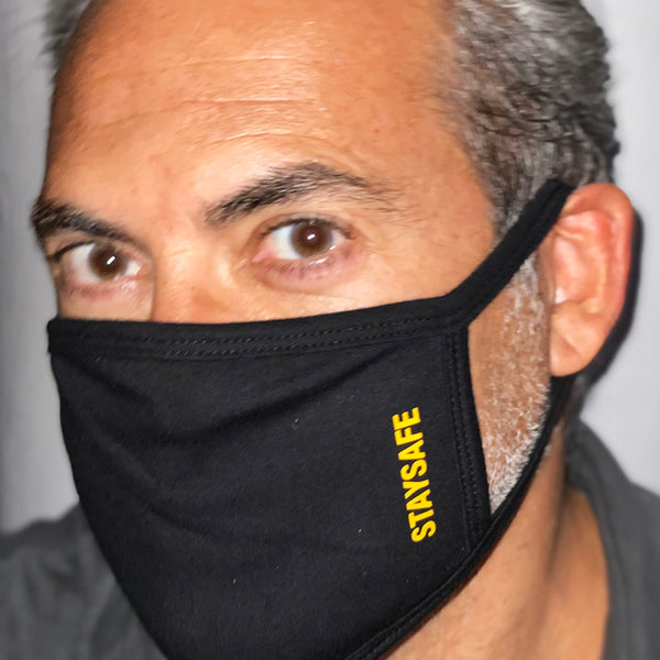 STAYSAFE ~ BLACK COTTON PROTECTIVE MASK  ~ SHIPS IMMEDIATELY