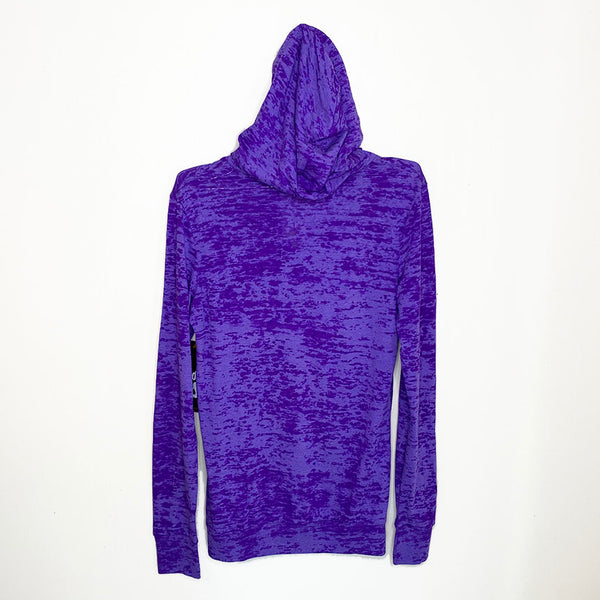 SIT DOWN SHUT UP ~ PURPLE BURNOUT HOODIE