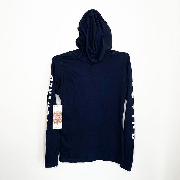 GODDESS ~ SOLID BLACK COTTON JERSEY HOODIE