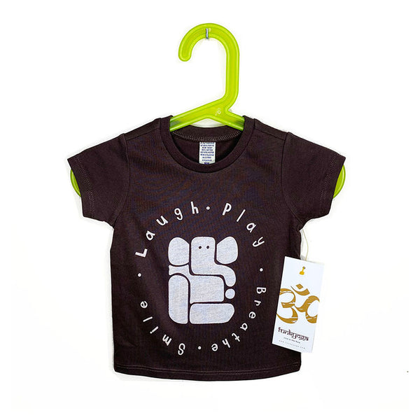 LAUGH & PLAY ~ BROWN BABY CREW TEE