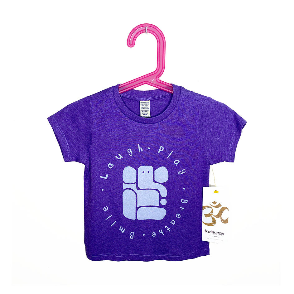 LAUGH & PLAY ~ HEATHER PURPLE & RED BABY CREW TEE