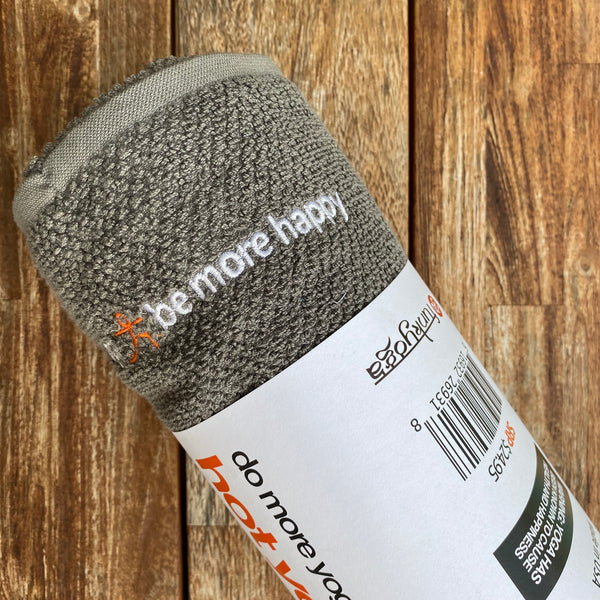 DO MORE YOGA ~ DARK GREY HOT YOGA TOWEL 55 X 28