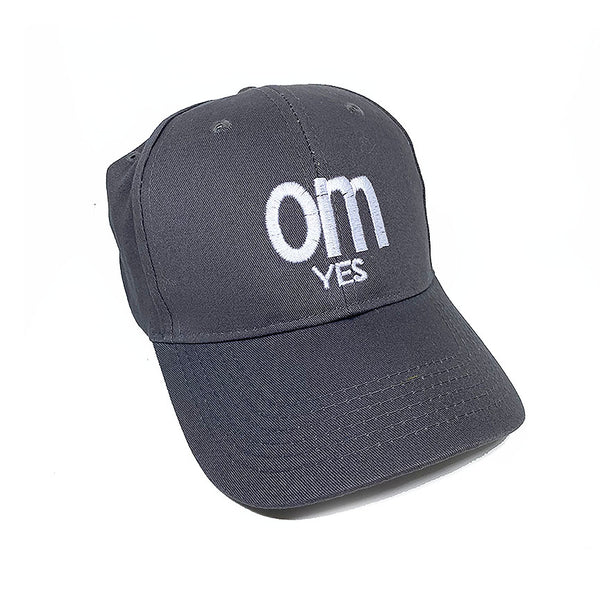 OM YES ~ STEEL GREY TWILL DAD CAP