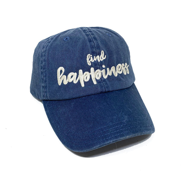 FIND HAPPINESS ~ DENIM BLUE TWILL DAD CAP