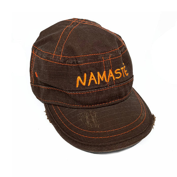 NAMASTE ~ DARK BROWN VELCRO STRAP BACK FIDEL CAP