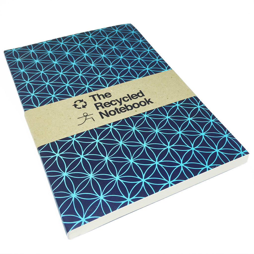 FLOWER OF LIFE 100% POST CONSUMER RECYCLED NOTEBOOK (BLANK)