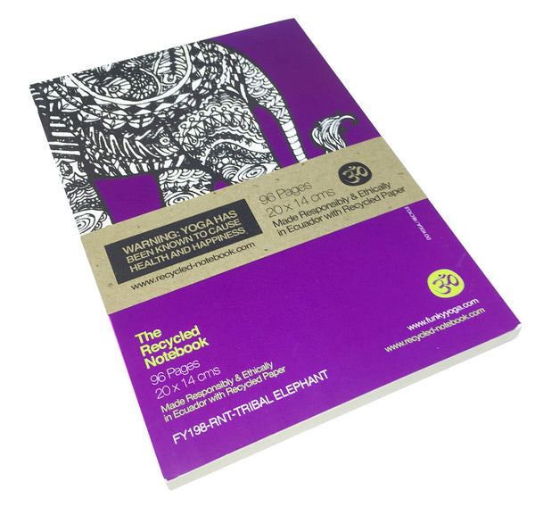 TRIBAL ELEPHANT 100% POST CONSUMER RECYCLED NOTEBOOK (BLANK)