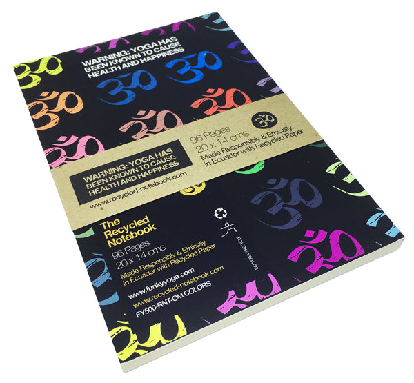 OM COLORS 100% POST CONSUMER RECYCLED NOTEBOOK (BLANK)