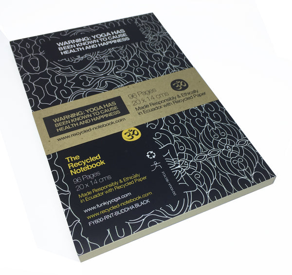 BUDDHA BLACK 100% POST CONSUMER RECYCLED NOTEBOOK (BLANK)