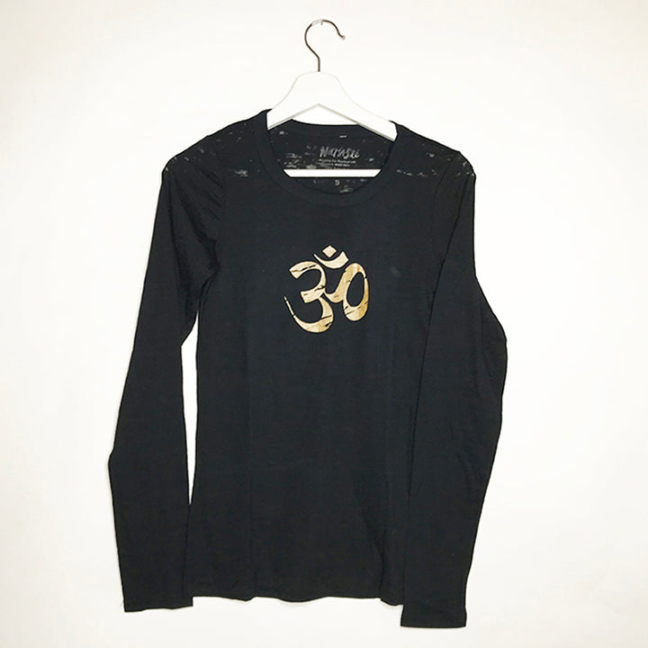 OM GOLD GIRLS BURNOUT LONGSLEEVE