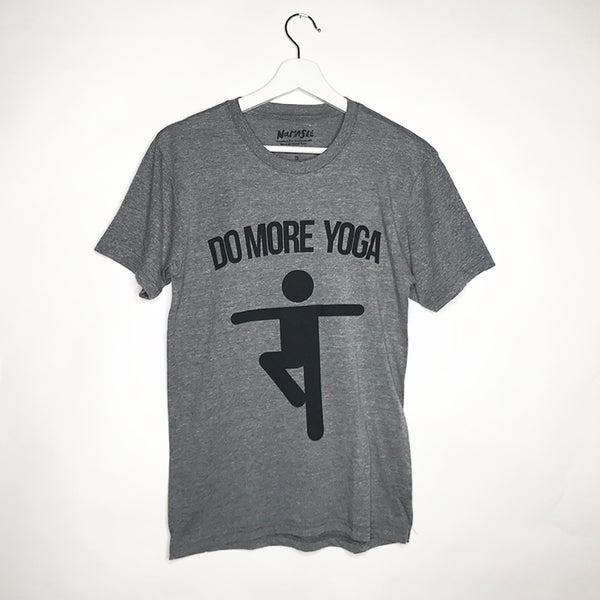 DO MORE YOGA MENS TRIBLEND CREW T-SHIRT