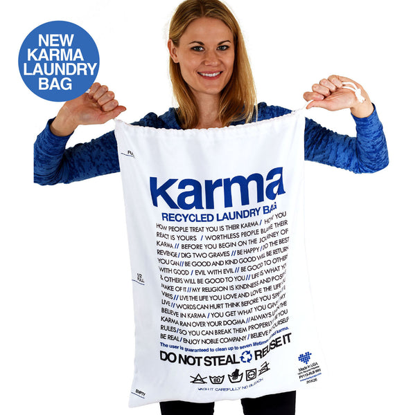 KARMA RECYCLED LAUNDRY BAG  FYLB-113-WH