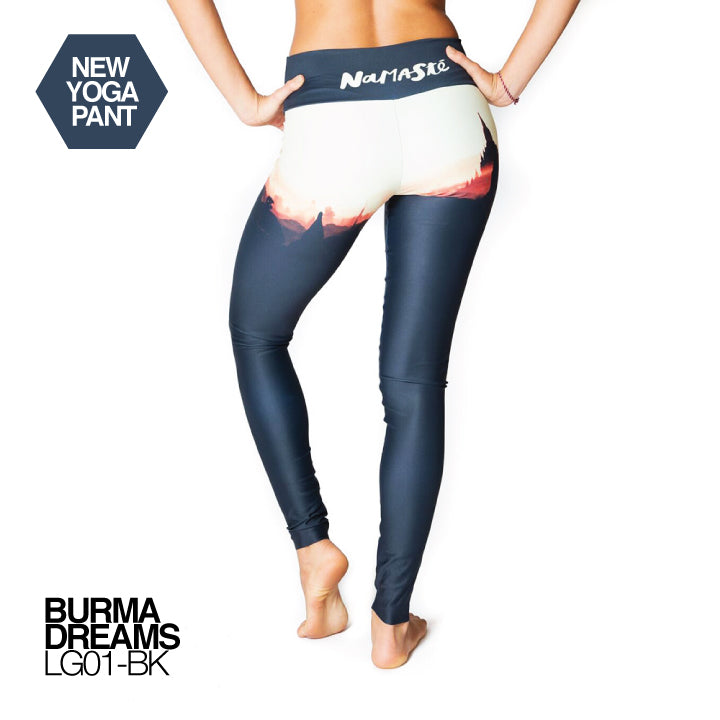 BURMA DREAMS ~ HIGH WAIST FULL LENGTH YOGA LEGGINGS