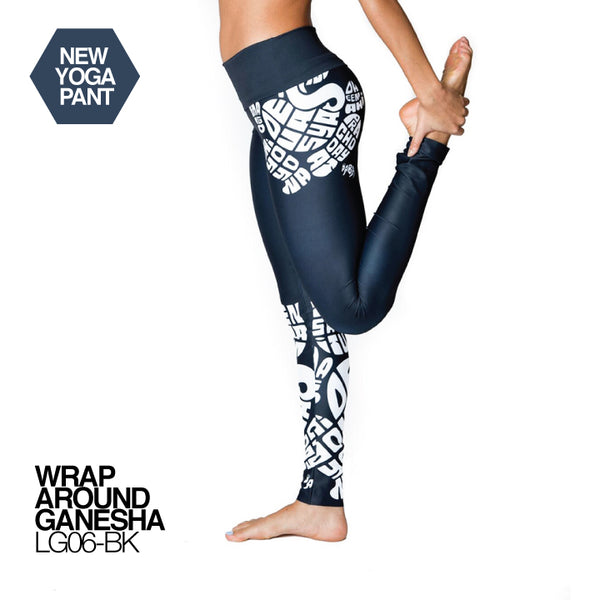 WRAP AROUND GANESHA ~ HIGH WAIST FULL LENGTH YOGA LEGGINGS